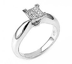 0.35 Ct. Princess Diamond Anniversary Ring in 14k White Gold