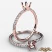 U Cut Pave Bypass Round Diamond Women's Fashion Ring in 14k Rose Gold 0.15Ct - javda.com