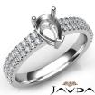 U Shape Prong Setting Diamond Engagement Pear Semi Mount Ring 14k White Gold 0.5Ct - javda.com
