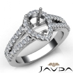 Gorgeous Halo Prong Diamond Engagement Pear Semi Mount Ring 14k White Gold 0.75Ct - javda.com
