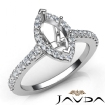 Diamond Engagement Marquise Semi Mount Prong Setting Ring 14k White Gold 0.5Ct - javda.com