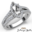 Gorgeous Halo Prong Diamond Engagement Marquise SemiMount Ring 14k White Gold 0.75Ct - javda.com