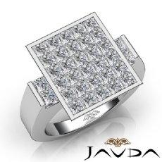 3 Ct Princess Cut Men Diamond Ring Fashion Band W Gold