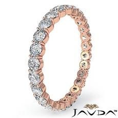 Womens Eternity Wedding Band 14k Rose Gold Round Shared Prong Diamond Ring  (1Ct. tw.)