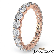 Round Cut Shared Prong Diamond Eternity Wedding Band Womens Ring 14k Rose Gold  (2Ct. tw.)