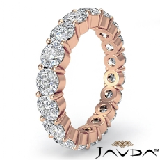 Eternity Wedding Band Shared Prong Round Diamond Women's Ring 18k Rose Gold  (3.6Ct. tw.)