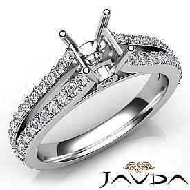 Diamond Engagement Split Shank Setting Asscher Semi Mount Ring 14K W Gold 0.65Ct