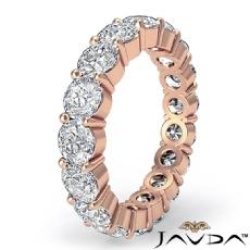 Shared Prong Round Diamond Eternity Wedding Band Women's Ring 14k Rose Gold  (5.1Ct. tw.)
