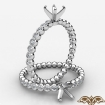 Bubble Women's Diamond Engagement Semi Mount Ring In 14k White Gold 0.15Ct - javda.com