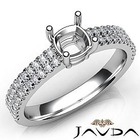 U Cut Prong Setting Diamond Engagement Cushion Semi Mount Ring 14K W Gold 0.50Ct