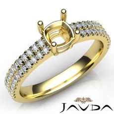 U Cut Prong Setting Diamond Engagement Cushion Semi Mount Ring 14k Gold Yellow  (0.5Ct. tw.)