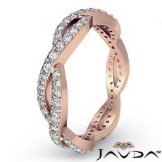 Eternity Wedding Band Women's Ring 14k Rose Gold Round Shape Pave Diamond  (1Ct. tw.)