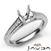 Diamond Engagement Cushion Semi Mount Pave Setting Ring 14k White Gold 0.75Ct - javda.com