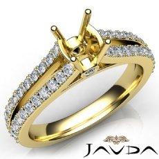 Diamond Engagement Split Shank Setting Cushion Semi Mount Ring 14k Gold Yellow  (0.65Ct. tw.)