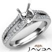 Diamond Engagement Split Shank Setting Cushion Semi Mount Ring 14k White Gold 0.65Ct - javda.com