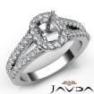 Halo Prong Diamond Engagement Cushion Semi Mount Gorgeous Ring 14k White Gold 0.75Ct - javda.com
