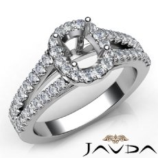 Halo Prong Diamond Engagement Cushion Semi Mount Gorgeous Ring 14K W Gold 0.75Ct