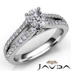 Split Shank Prong Set Cushion diamond engagement Ring in 14k Gold White