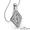 0.2Ct Kite Style Diamond Pendant Necklace In 14k White Gold 18 Inch Chain - javda.com
