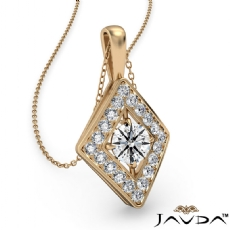 Kite Style Diamond Pendant Necklace In 14k Gold Yellow 18 Inch Chain (0.4Ct. tw.)