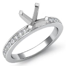 0.50 Ct Diamond Classic Engagement Ring Round Setting 14K White Gold Semi Mount