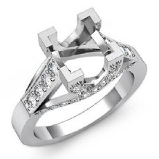 0.80Ct Princess Diamond Solitaire Engagement Ring Setting 14k Wh Gold Semi Mount
