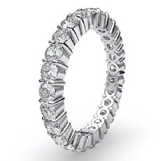 Women's Shared Prong Diamond Ring Eternity Wedding Band 14k White Gold 1.5Ct