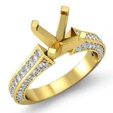 Diamond Solitaire Engagement Round Semi Mount Ring Setting 18k Gold Yellow (1Ct. tw.)