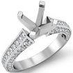 1Ct Diamond Solitaire Engagement Round Semi Mount Ring Setting 14k White Gold - javda.com