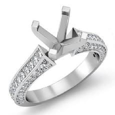 1 Ct Diamond Solitaire Engagement Round Semi Mount Ring Setting 14K White Gold