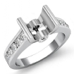 0.5Ct Wedding Diamond Women's Ring Bezel Setting 14k White Gold Round Semi Mount - javda.com