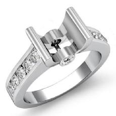 0.5Ct Wedding Diamond Women's Ring Bezel Setting 14K White Gold Round Semi Mount