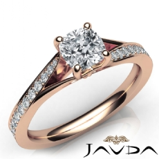 Cushion diamond  Ring in 14k Rose Gold
