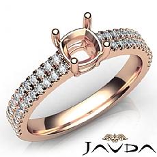 U Cut Prong Setting Diamond Engagement Cushion Semi Mount Ring 18k Rose Gold  (0.5Ct. tw.)