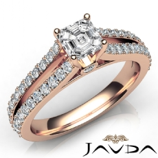 Asscher diamond  Ring in 14k Rose Gold