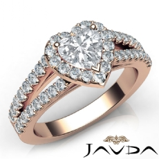 Heart diamond  Ring in 14k Rose Gold