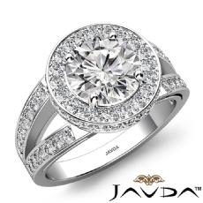 Round diamond  Ring in Platinum 950