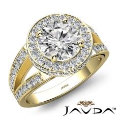 Round diamond  Ring in 18k Gold Yellow