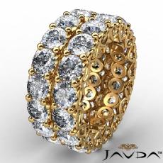 10.1Ct Womens Diamond Eternity Wedding Band Heart Filigree 14k Yellow Gold