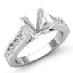 0.3Ct Princess Diamond Engagement Ring Channel Setting 14k White Gold Semi Mount - javda.com