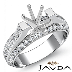 1.40 Ct Diamond Women Engagement Ring Setting 14k White gold Oval Semi Mount