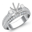 1.4Ct Diamond Women Engagement Ring Setting 14k White Gold Oval Semi Mount - javda.com