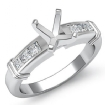 0.4Ct Diamond Engagement Womens Ring Cushion Semi Mount Setting 14k White Gold - javda.com