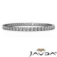 Womens Round 47 Stone Line Bracelet 7.25 inch 14k White Gold (7ctw.)