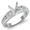 0.7Ct Diamond Solitaire Engagement Asscher Semi Mount Ring Setting 14k White Gold - javda.com