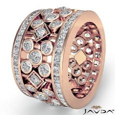 Round Princess Diamond Engagement Ring Women Wedding Band 14k Rose Gold  (3.85Ct. tw.)