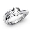 <Gram> Classic Solitaire Diamond Engagement Ring Bezel Setting  14k White Gold Semi Mount - javda.com