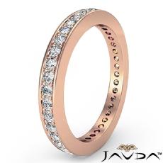 Classic Round Pave Diamond Wedding Band 14k Rose Gold Women's Eternity Ring  (0.4Ct. tw.)