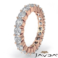 Women's Eternity Wedding Band 14k Rose Gold Shared Prong Diamond Ring  (2Ct. tw.)