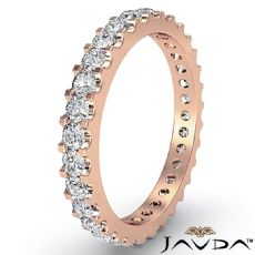 Classic Diamond Prong Set Eternity Women's Wedding Band 18k Rose Gold Ring  (1.25Ct. tw.)